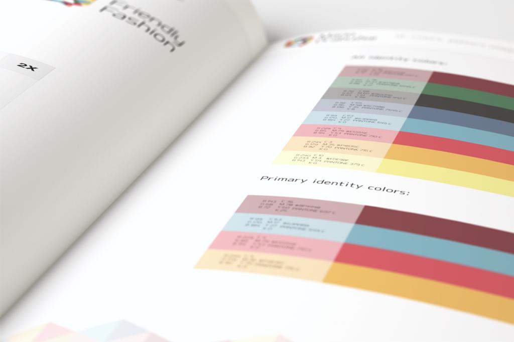 Пример требований брендбука по цветам